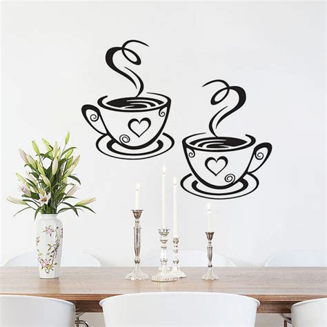In The Garden Wall Stickers Dctop Coffee Cups Vinyl Wall Stickers Wall