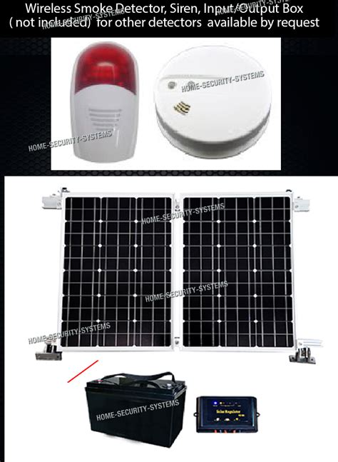 home security solar 3g gsm wireless alarm system