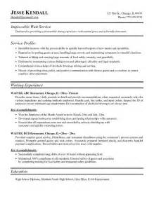 bartender waitress resume best resume exle