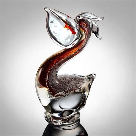 spi home 76056 glass home decor featuring pelican with