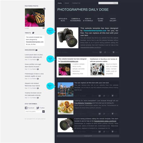 templates for photography website free download photography web template free website templates