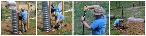 putting  fence  building  gate  deer  dig