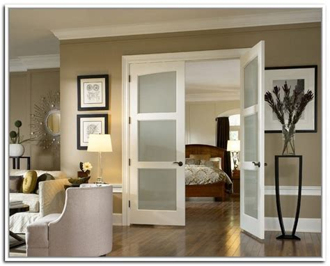 French Doors With Frosted Glass For The Bedroom Interior Bedroom Doors With Glass