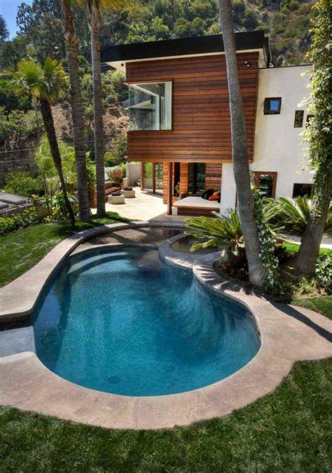 architecture awesome backyard design with modern kidney piscine ext 233 rieur 90 photos et id 233 es inspirantes