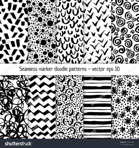 svg marker pattern set handdrawn marker doodle patterns vector stock vector