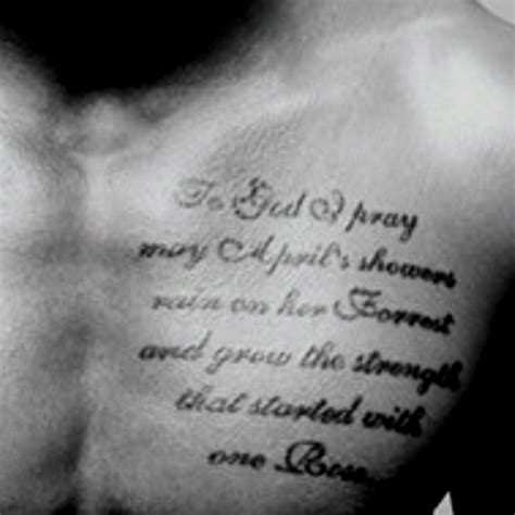 trey songz cross tattoo to god i pray may april s showers on forrest