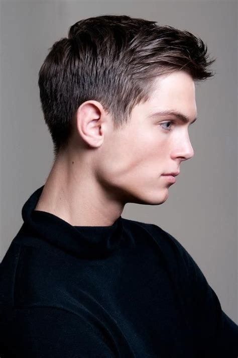 boys haircuts with front colic sides but shorter in front would be serviced with