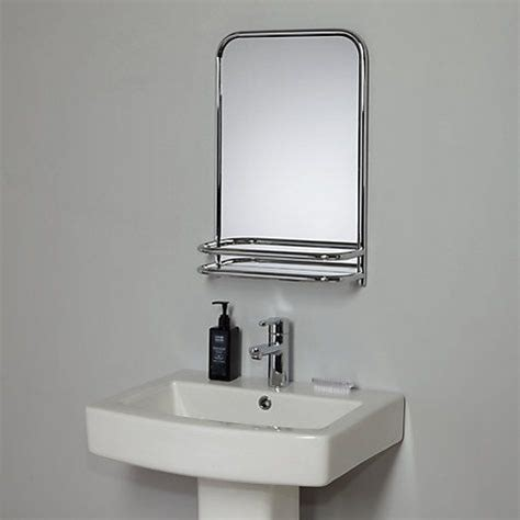 17 best ideas about bathroom mirror with shelf on
