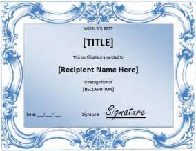 top performer award templates world s best award certificate template formal word