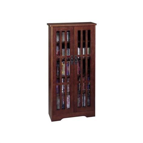 48 tall kitchen wall cabinets 48 quot tall cd dvd wall media storage in walnut m 371w