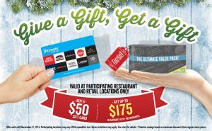 Kelseys Gift Card - gift card extras bonus gift cards
