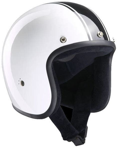 bandit design jet helmet bandit jet classic white motorcycle helmet