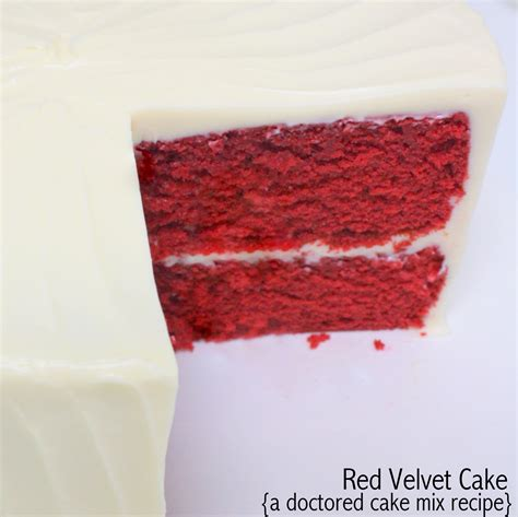 the best velvet cake recipe velvet cake doctored cake mix recipe my cake school
