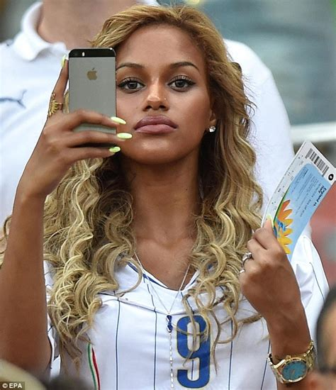 Blouse Baloteli New mario balotelli s fiancee neguesha wears italy shirt in crowd for match daily