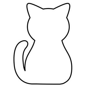 black cat template printable 17 best ideas about free applique patterns on