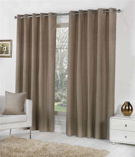 lined cotton curtains sorbonne lined eyelet curtains 100 cotton ready made ring top pairs all sizes ebay