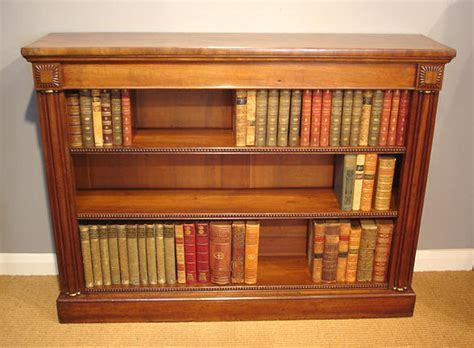 Antique Bookcase, dwarf bookcase,openfront bookcase