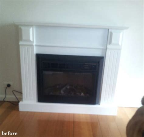 Electric Fireplace Makeover the painted hive easy diy marble hearth and a fireplace makeover