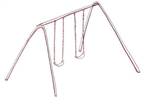 how to draw swing wie die schaukeln vom bleistift etappenweise zu zeichnen