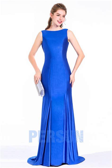 Robe Bustier Bleu Roi Mariage - chic robe bleu roi de soir 233 e longue fourreau sir 232 ne dos