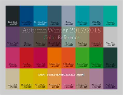 aw2017 2018 trend forecasting for intimate sport apparel color reference www