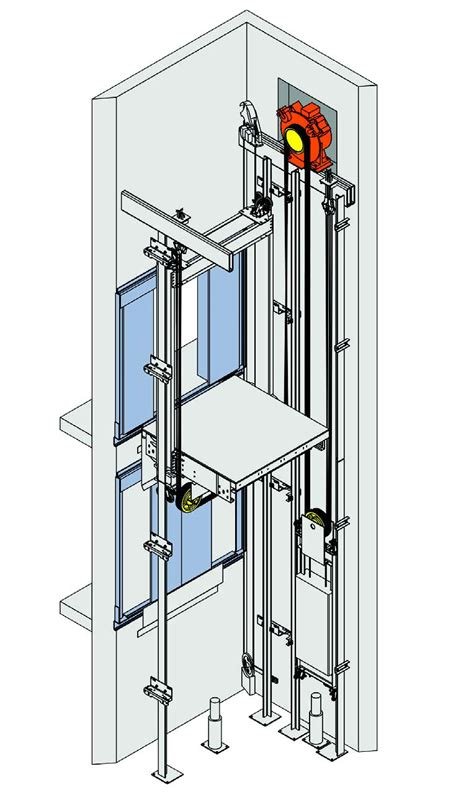 Dual Family House Plans traction mrl pocket mounted mei total elevator