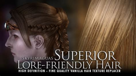 best hair mod for skyrim superior lore friendly hair hd textures at skyrim nexus