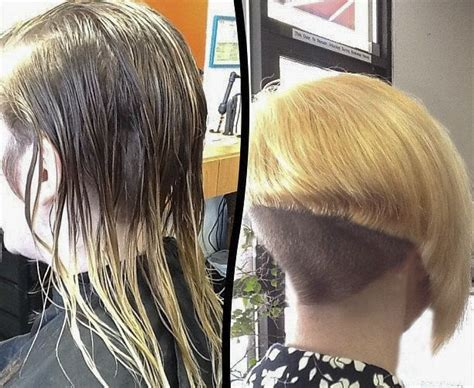 buzzed nape bob makeover 127 best images about hair before and after haircuts on