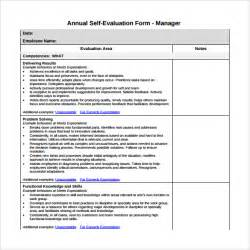 self evaluation template self evaluation 7 free documents in pdf