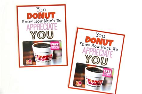 Best Place To Buy Starbucks Gift Cards - dunkin donuts thank you printable smashed peas carrots