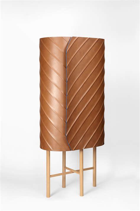 designboom furniture designboom leather wallet cabinet developed by pierre