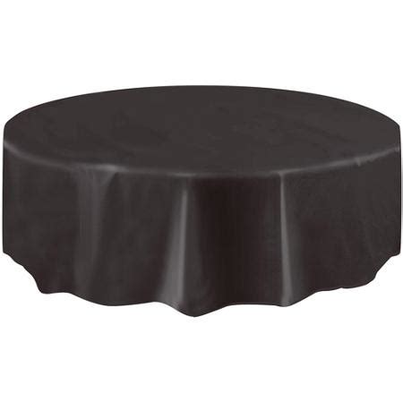 plastic table covers walmart plastic round black table cover 84 quot
