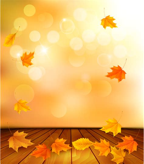 Beautiful Autumn Leaves Background Vector 04 Free Download Fall Powerpoint Background
