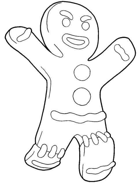 gingerbread man shrek coloring page how to draw gingerbread man from shrek with easy step by