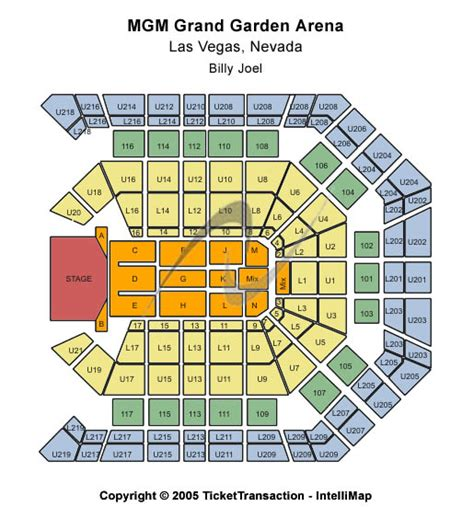 Mgm Grand Garden Arena Seating Chart by Mgm Grand Garden Arena Seating Chart