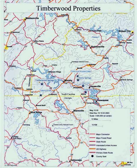 map of carolina murphy timberwood a land development corporation based in