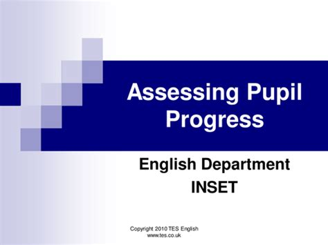 tutorial powerpoint english assessing pupil progress in english at key stage 3 by