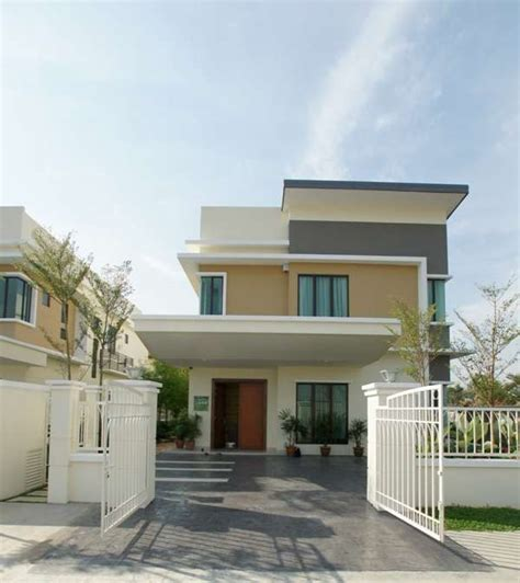 malay kung house design double storey bungalow lake precinct aman perdana klang selangor malaysia