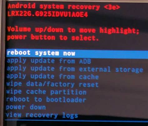 android boot menu how to boot into galaxy s6 recovery mode