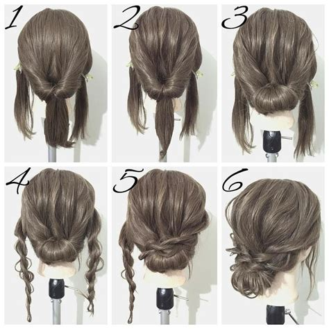Easy Hairstyles For Shoulder Length Hair by Best 25 Medium Hair Updo Ideas On Hair Updos