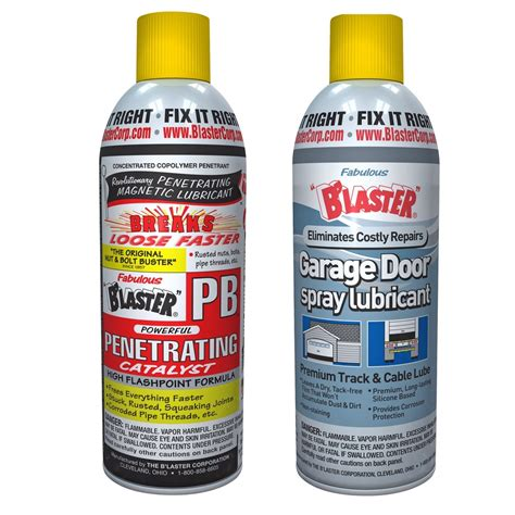 Blaster Garage Door Lube Blaster Pb Penetrating Catalyst 11 Oz Spray Blaster Garage Door Lubricant 9 3 Oz Spray From