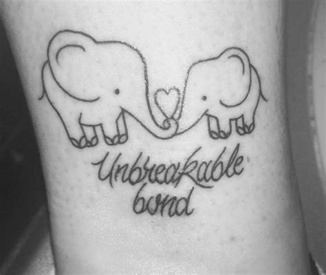 mother daughter elephant tattoos unbreakable bond elephant