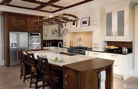 stationary kitchen islands with seating 2018 最新欧式室内装修美式实木餐桌设计效果图大全 设计456装修效果图