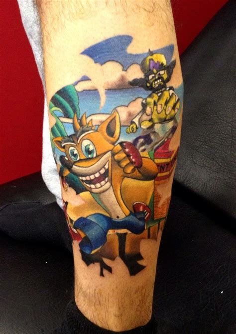 jak and daxter tattoo crash bandicoot by danetattoo crashy news