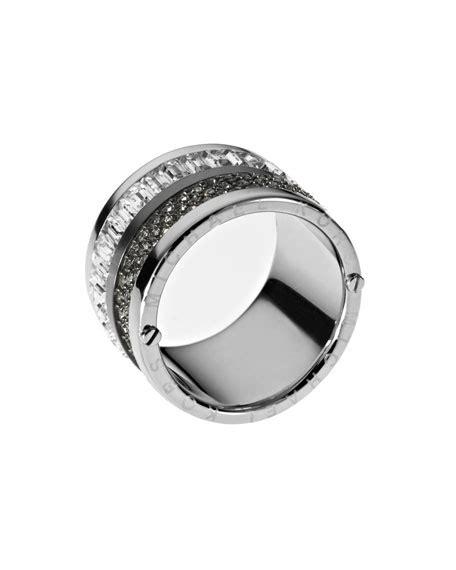 michael kors multi barrel ring silver color