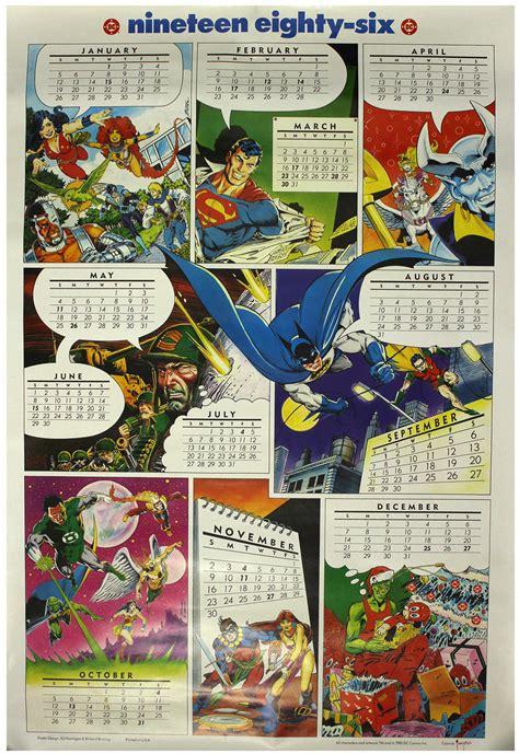 Dc Comics Calendar Lot Detail 1986 Dc Comics 27 Quot X 40 Quot Calendar Poster