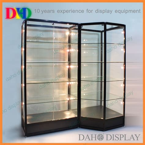 Lemari Portabel 1 glass showcase with led lights view glass showcase daho