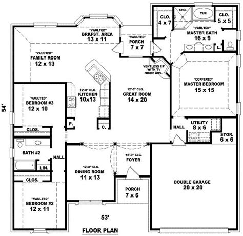3 Bedrooms 2 Bathrooms House Plans by 3 Story Tiny House Plans House Floor Plans 3 Bedroom 2