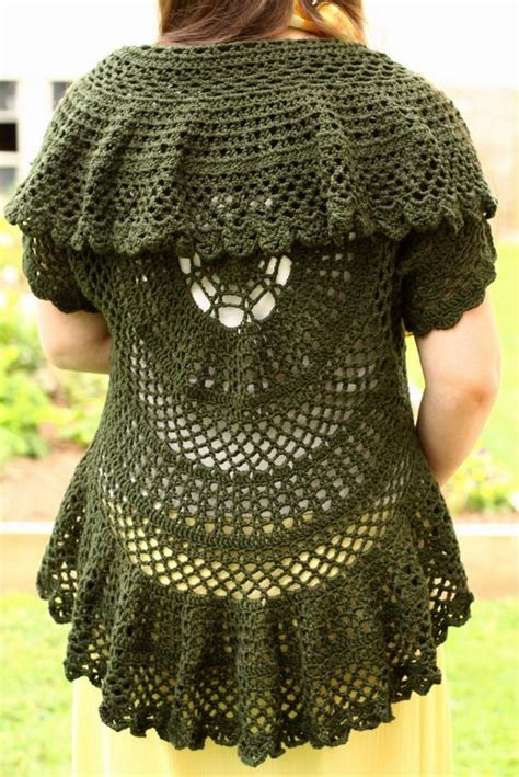 pattern   crochet circle sweater lace  joysinstitches