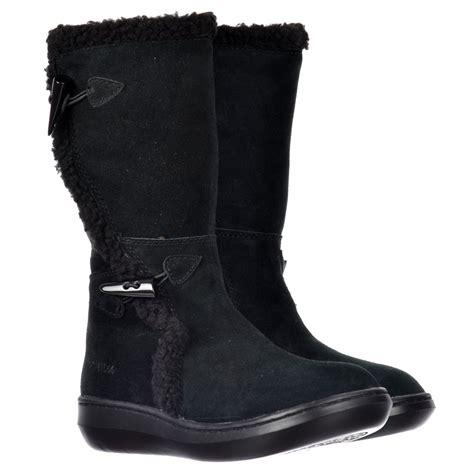 Black Tribal Brown rocket slope classic calf fur winter boots cow suede black chestnut brown tribal brown